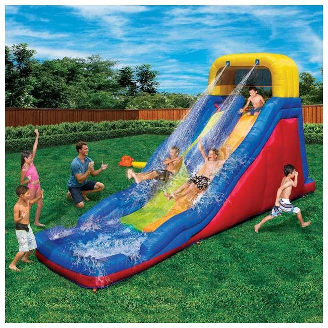 BAN-90360 Banzai Double Drop Raceway Water Slide and Splash Pool  1