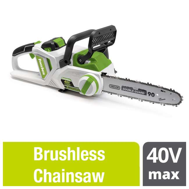 PCS140H PowerSmith 14-Inch Cordless Chainsaw w/ Battery and Charger 1