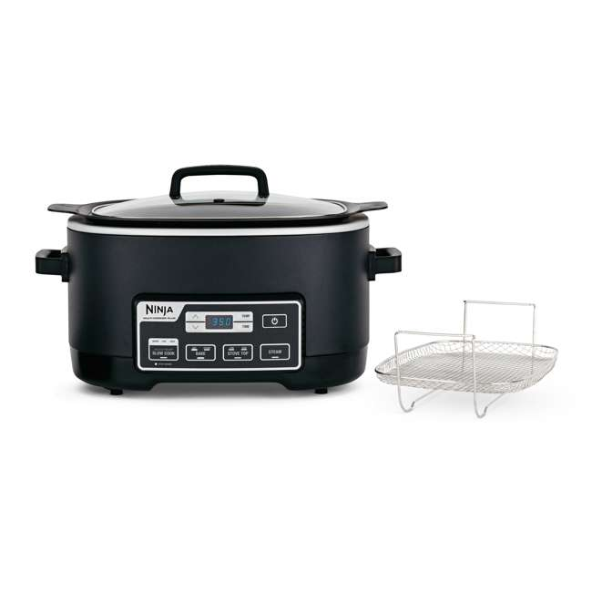 MC760_EGB-BK-RB-U-B Ninja 6 Quart Programmable Multi Cooker Plus (Certified Refurbished) (Used)