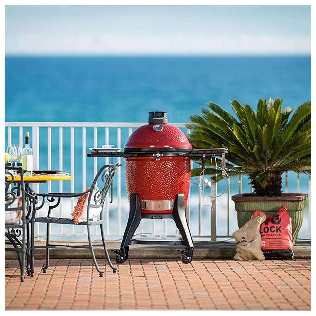 """KJ23RHCI-A Kamado Joe KJ23RHCI Joe Classic III 18"""" Portable BBQ Ceramic Charcoal Grill, Red 3"""