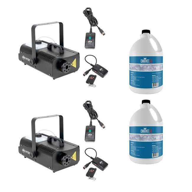 VF1300 + 2 x FJU American DJ 2.3 L Fog Machine (2 Pack) & Chauvet Fog 1 Gallon Fluid (2 Pack)