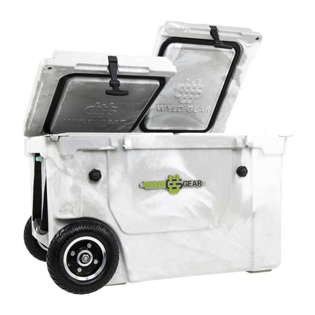 HC50-17W WYLD HC50-17W 50 Quart Dual Compartment Insulated Cooler with Wheels, White/Gray