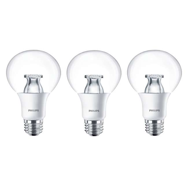 3 x PLC-459347 Philips 10W 2700K Dimmable Warm White 60W Replacement LED Bulb (3 Pack)