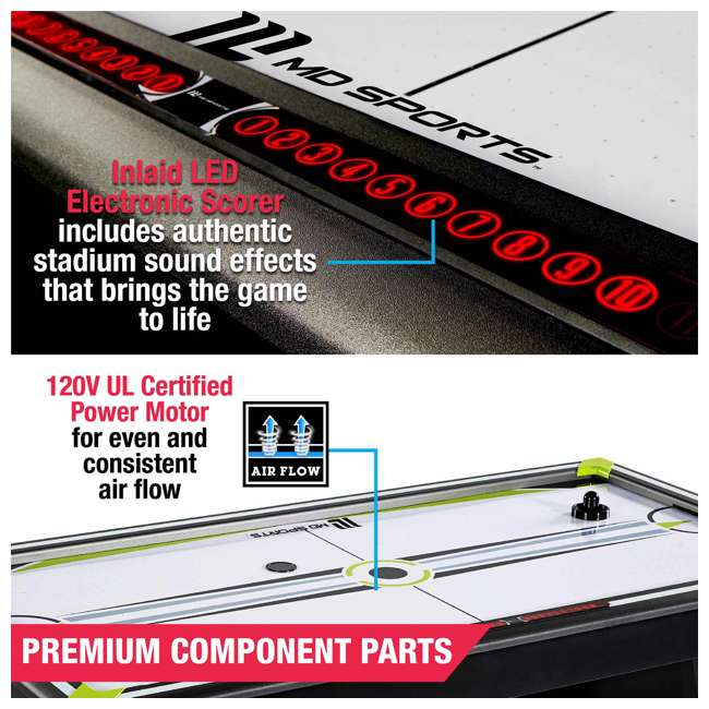 AWH080_037M MD Sports Air Powered 80 x 42-Inch 2 Player Air Hockey Table w Electronic Scorer 3