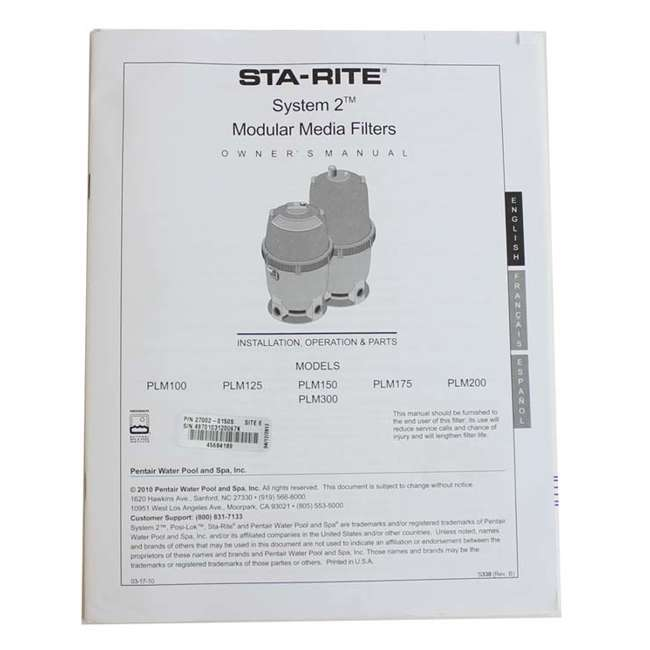 Sta Rite 27002 0150s System 2 Plm150 Tridge Filter 150 Sq