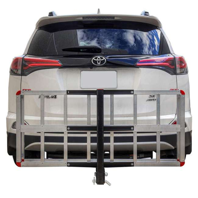 HCC502A Detail K2 HCC502A 500 Pound Trailer Hitch Mounted Aluminum Cargo Carrier Rack 5