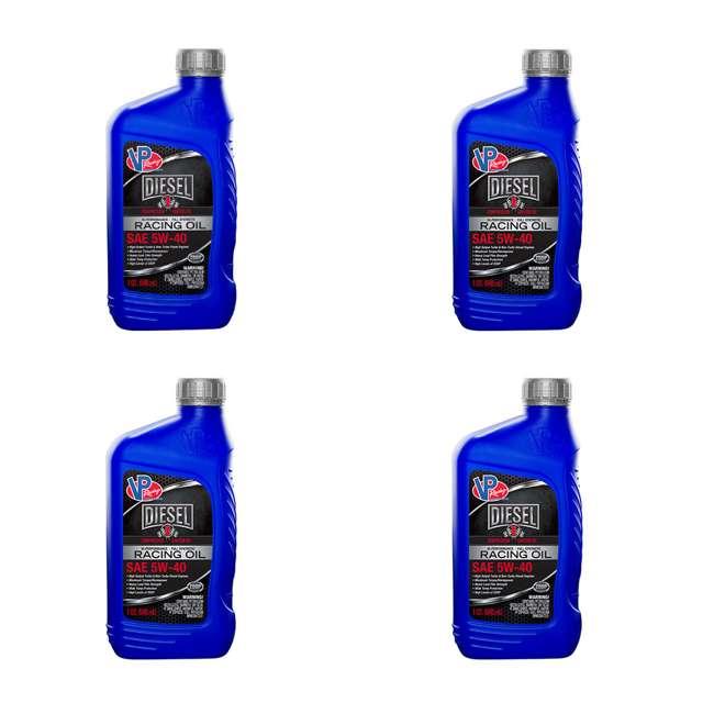 4 x 2695 VP Racing Fuels Hi Performance Diesel Race Engine Oil, Quart SAE 5W-40 (4 Pack)