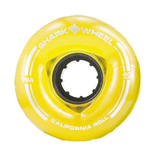 1001S60MMS78ATA Shark Wheel California Roll 60mm 78A Wheels, Transparent Amber 1