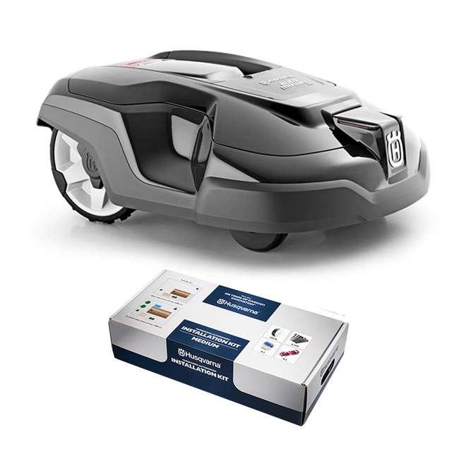 husqvarna automower 315 robotic lawn mower with medium installation kit 315 automower med. Black Bedroom Furniture Sets. Home Design Ideas