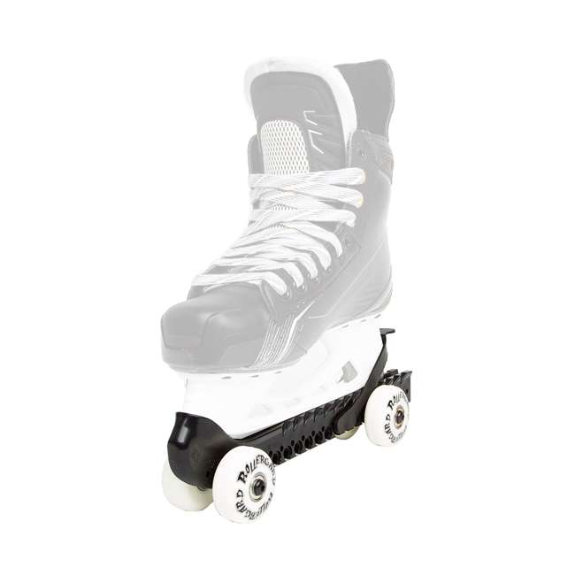 0G144500T1A-L + 44374-B Rollerblade Bladerunner Micro Ice G Skates, Large, & Skate Guard Rollers (Pair) 5