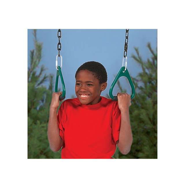 PS 7536 Playstar PS7536 Children's Commercial Grade Outdoor Gym Rings with Covered Chain 2