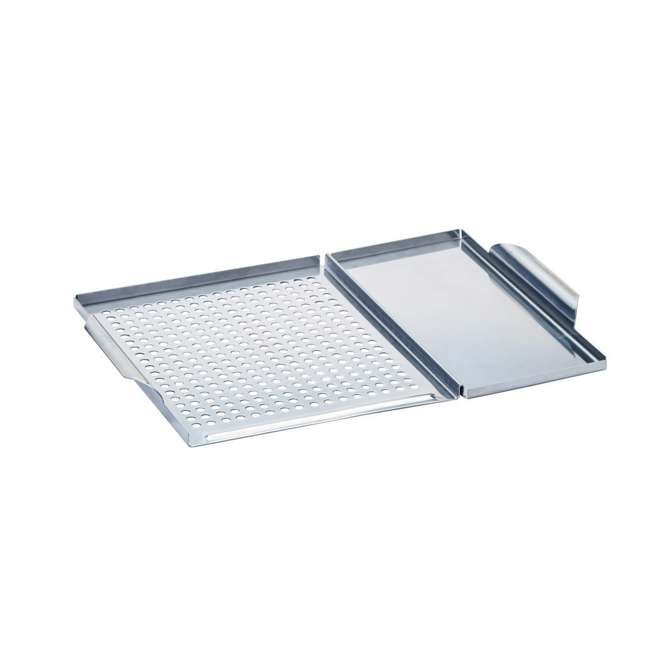 BOPA-24286 Bull Dual Stainless Steel Grilling Grid and Plank Saver