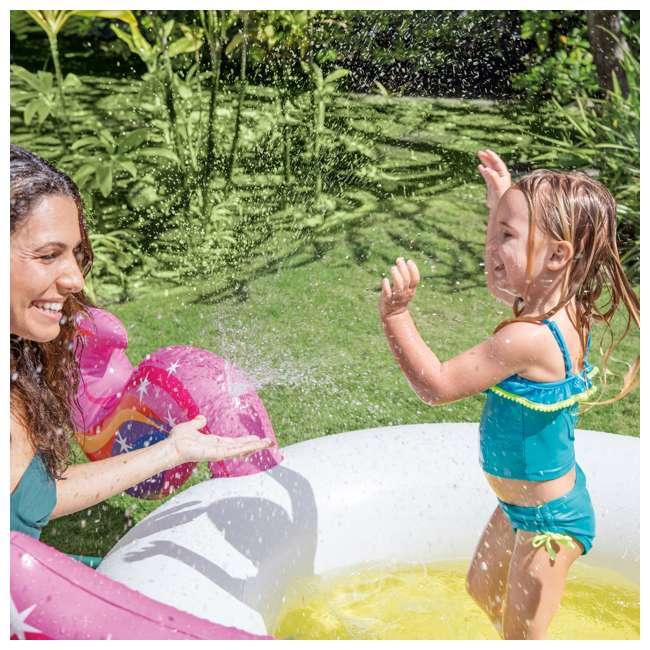 "57441EP Intex 57441EP 107 x 76 x 41"" Inflatable Rainbow Mystic Unicorn Spray Kiddie Pool 4"