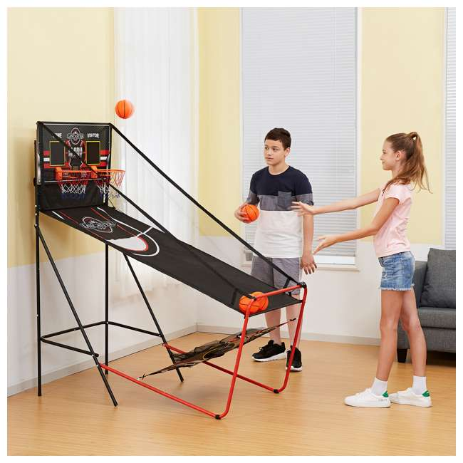 BBG019_018P-U-A Lancaster 2 Player Scoreboard Arcade 3 in 1 Basketball Sports Game (Open Box) 6