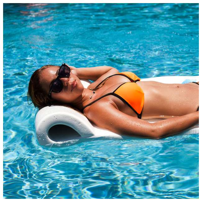 "6 x 8020004-U-A TRC Recreation Sunsation 70"" Foam Lounger Pool Float, White (Open Box) (6 Pack) 2"