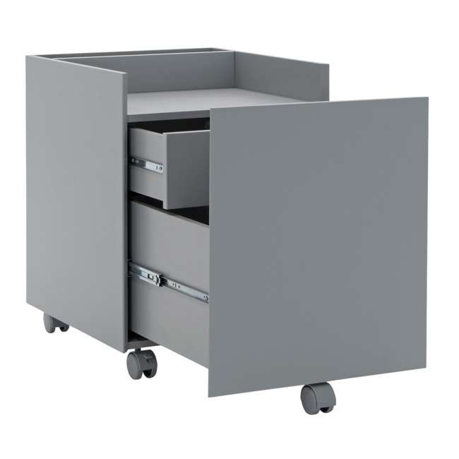 51107 Calico Designs 51107 Niche Mobile Wooden Rolling Home Office File Cabinet, Gray 4