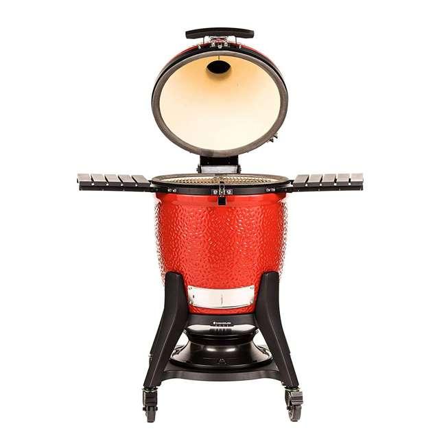 """KJ23RHCI-A Kamado Joe KJ23RHCI Joe Classic III 18"""" Portable BBQ Ceramic Charcoal Grill, Red 1"""