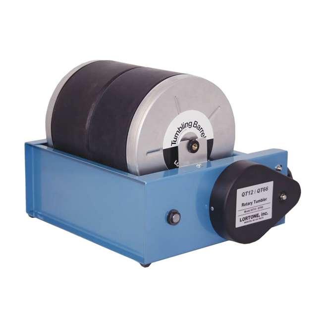 1-0614 Lortone 006-092 QT66 Twin Barrel 12 Pound Hobby Rotary Rock Polisher Tumbler 1