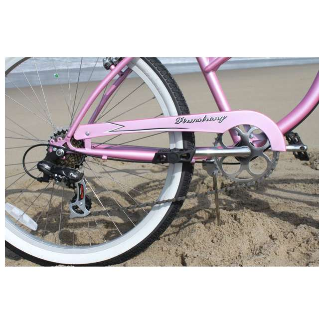 "14803 Firmstrong Urban Lady Women's 26"" 7-Speed Cruiser Bike, Pink 4"