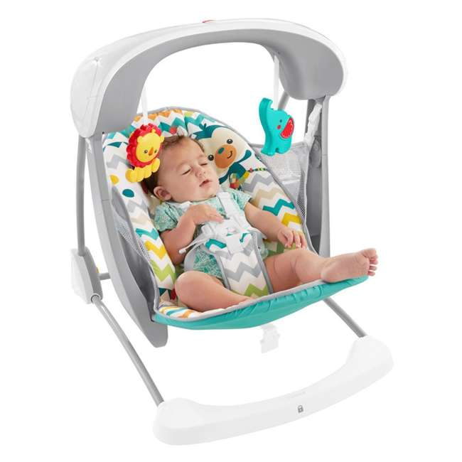 DPV46 Fisher Price Colorful Carnival Take-Along Infant Swing and Seat (2 Pack) 6