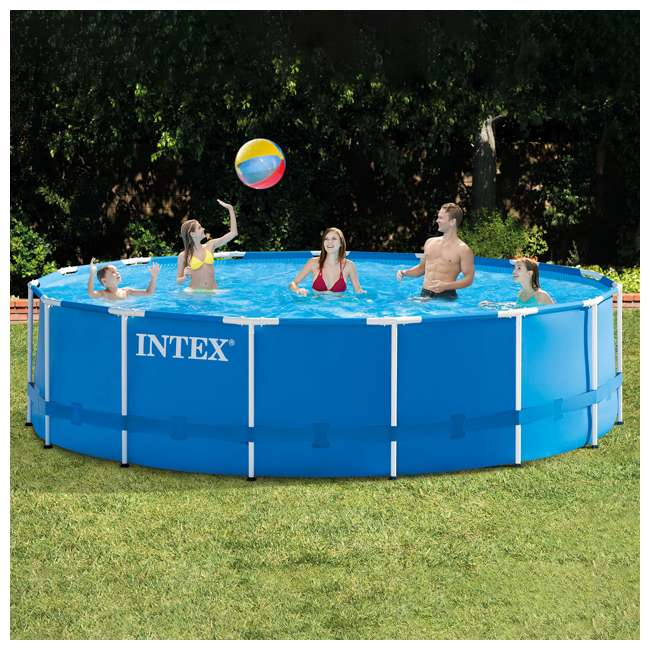 """28241EH + 6 x 29000E + NC-05131 Intex 15' x 48"""" Pool Set with 6 Filter Cartridges + Natural Chemistry PHOSfree 6"""