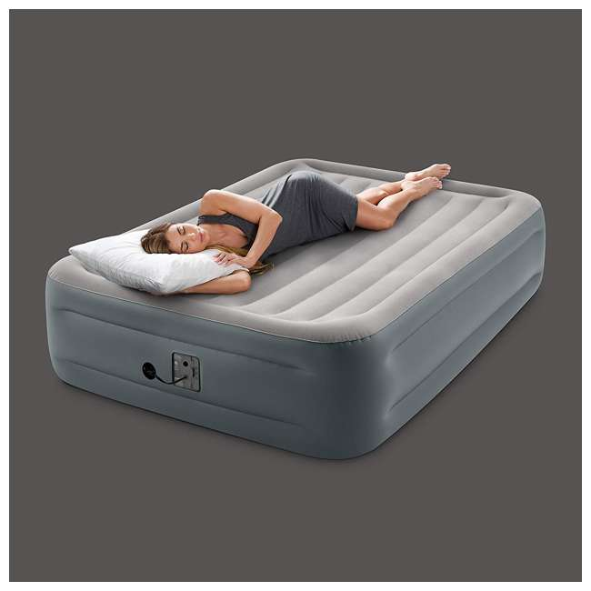 64125EP Intex 64125EP Dura-Beam Plus Essential Rest Inflatable Bed Air Mattress, Queen 3