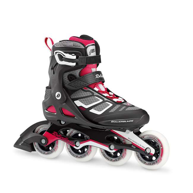 077341009V1-8 Rollerblade USA Macroblade 90 Women's Adult Fitness Inline Skates Size 8, Red