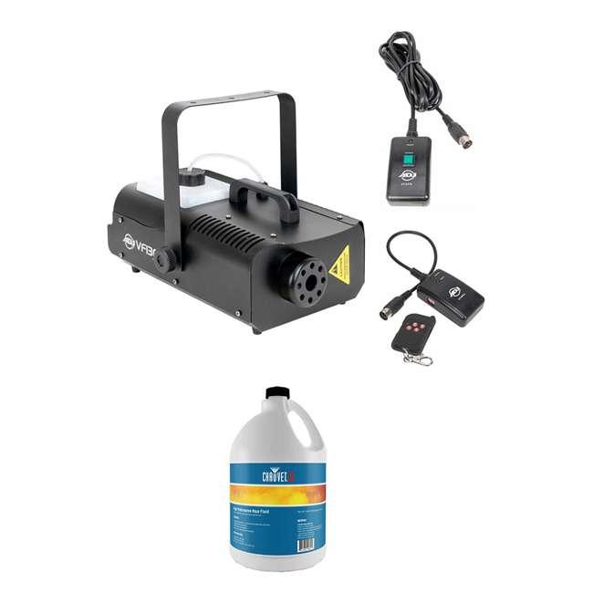 VF1300 + HFG-FLUID American DJ 1300 Watt 2.3 L Tank Fog Machine w/ Remote & Fog Fluid (1 Gallon)
