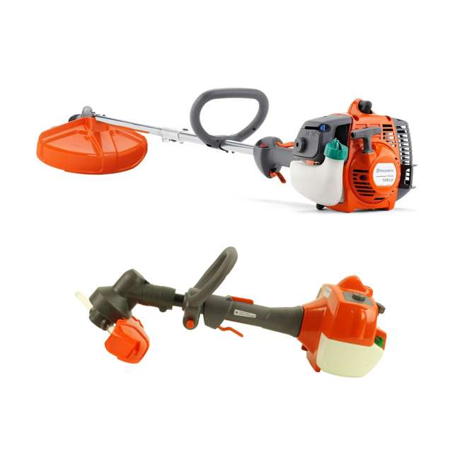 HV-TR-952711953 + HV-TOY-585729102 Husqvarna 128LD Gas Powered Lawn Trimmer & Battery Operated Toy Weed Trimmer