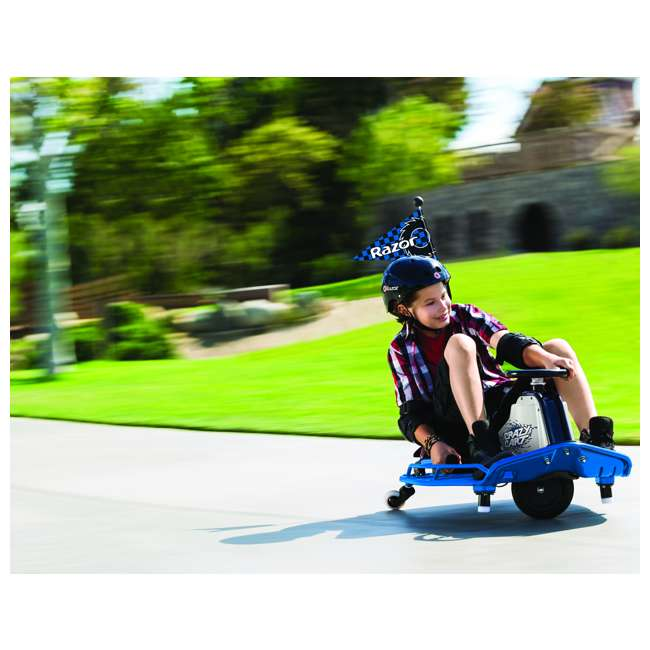 25143442 Razor Adult Electric High Torque Motorized Drifting Crazy Cart, Blue (2 Pack) 6