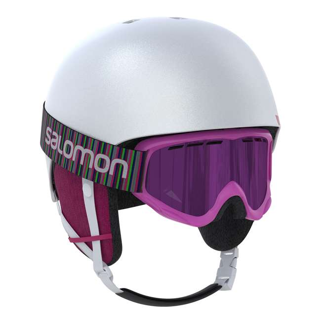 L39916000 - JRM Salomon Kiana Kids Ski or Snowboard Helmet Size Junior Medium, White 1