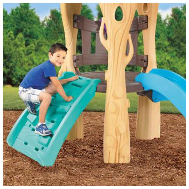 Little tikes kids tree house backyard playground swing set for Little tikes outdoor playset