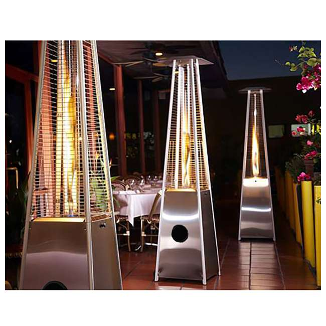 HLDS01-GTSS AZ Patio Heaters Tall Quartz Glass Tube Propane Heater, Stainless Steel