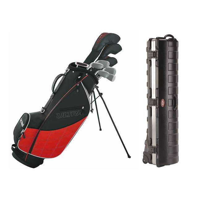 WGGC4320L + 2SKB-1649W Wilson Men's, Left-Handed Golf Club Set  & Wheeled Travel Case