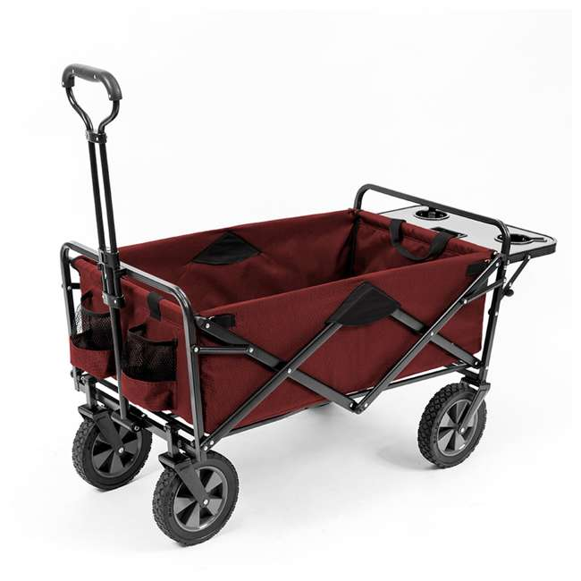 mac sports folding garden utility wagon w table maroon mac wtc 167 maroon table - Garden Utility Cart