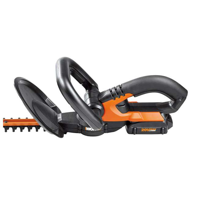 WG255.1 Worx 20-Inch 20V Cordless Hedge Trimmer with Battery & Charger 4