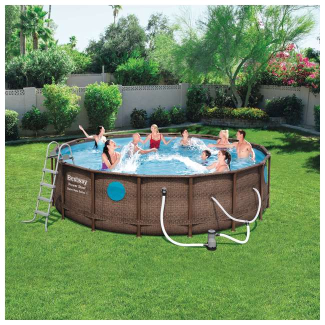 56726E-BW + 6 x 58012E-BW Bestway Power Steel 16x4 Ft Pool Set with Accessories 7