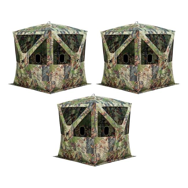 3 x BARR-BC350BW Barronett Blinds Big Cat 350 Backwoods Pop Up 3 Person Hunting Blind (3 Pack)
