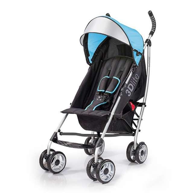 21840A Summer Infant 3Dlite 42 Inch Convenience Stroller, Caribbean Blue