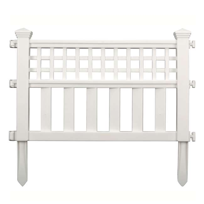 GVF243PK Suncast Grand View 14.5 x 24 Inch Resin Yard Garden Border Fence, White (3 Pack) 1