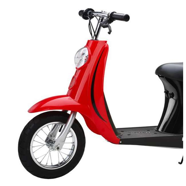 15130608 + 15130656 Razor Pocket Mod Miniature Euro 24V Electric Retro White Scooter & Red Scooter 8