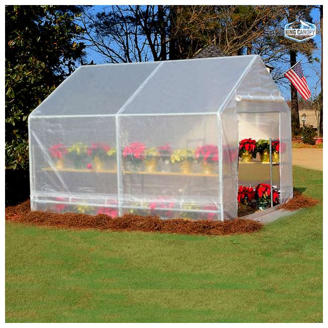 GH1010 King Canopy 10 x 10-Foot Fully Enclosed Greenhouse 2