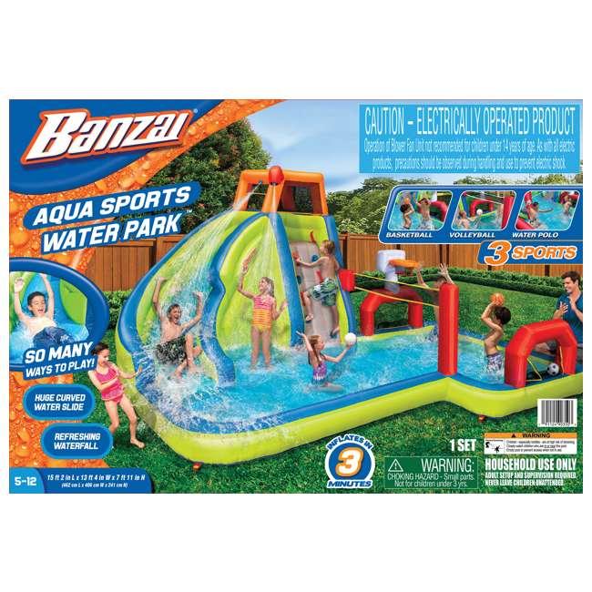 BAN-90350 Banzai Aqua Sports Kids Inflatable Water Park Play Center 4