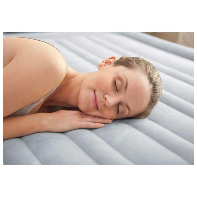 64417E Intex Queen Comfort Plush High Rise Dura-Beam Air Bed Mattress w/ Built-In Pump 64417E 1