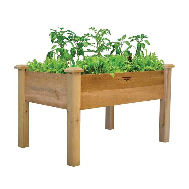 REGB 24-48 Gronomics Western Red Cedar Elevated Garden Bed 24 x 48 x 32 Inches, Unfinished 1
