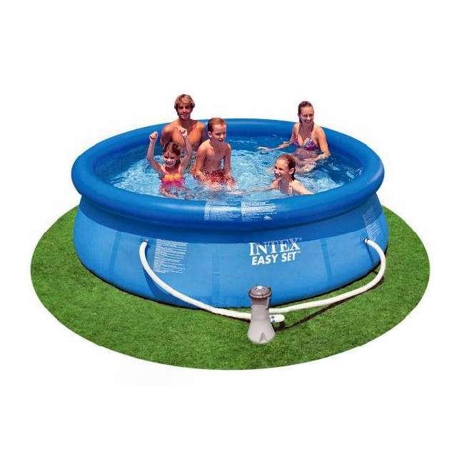 "28121EH-U-A Intex 10' x 30"" Easy Set Swimming Pool & 330 GPH Filter Pump (Open Box) (2 Pack)"
