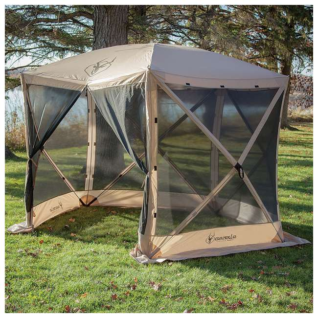 "GAZL-25500-U-A Gazelle  G5 4 Person 5 Sided 115"" x 106"" Canopy Screen Tent  (Open Box) (2 Pack) 1"
