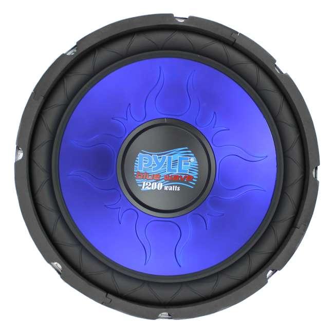 PL1290BL Pyle 12-Inch 1200-Watt Dual Voice Coil Blue Subwoofer