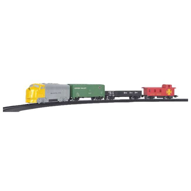 00958 Bachmann Industries 24-Piece HO Scale Battery Operated Rail Express Kid Train Set with Sound, Yellow