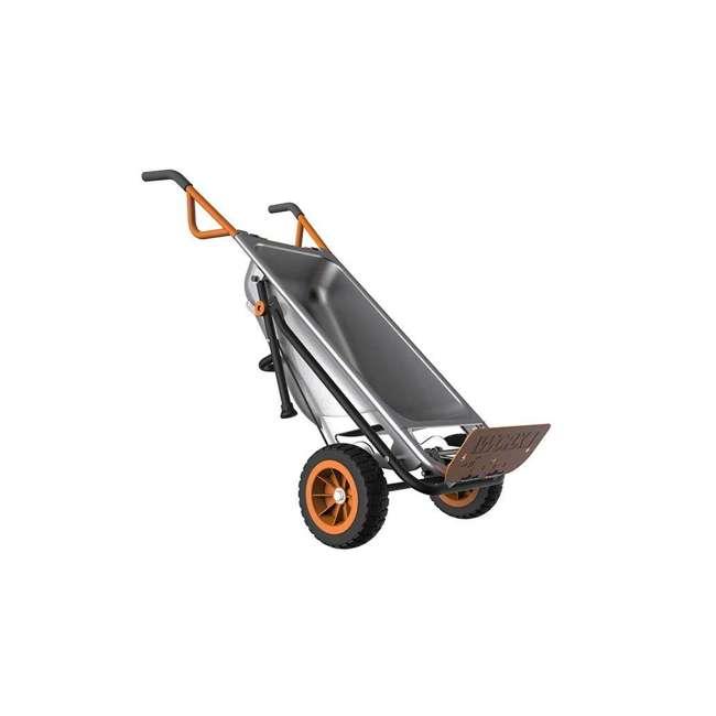 WG050-U-C Worx WG050 Aerot 8-In-1 Wheelbarrow Dolly t Garden rier - Missing Wheel 1